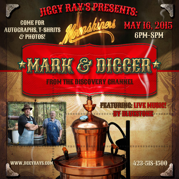 Moonshiner's Mark & Digger are coming to Jiggy Ray's Pizzeria