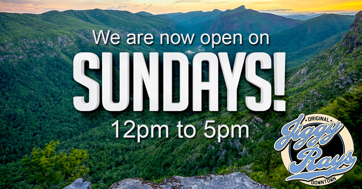 We're now open on Sundays!