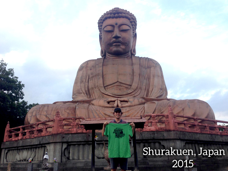 Jiggy Ray's T-Shirt goes to Shurakuen Japan!