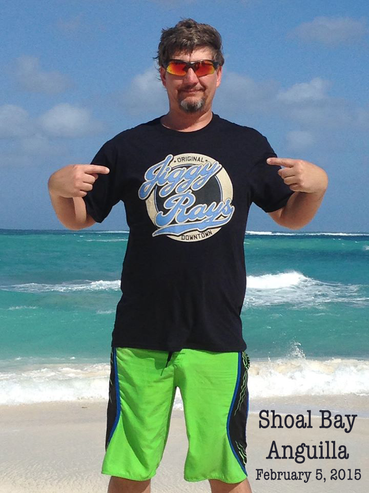 Jiggy Ray's T Shirt in Shoal Bay, Anguilla