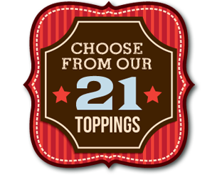Choose form our 21 pizza toppings
