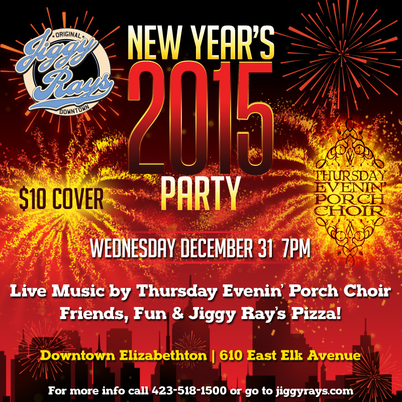 New Year's Eve Pary 2015 at Jiggy Ray's