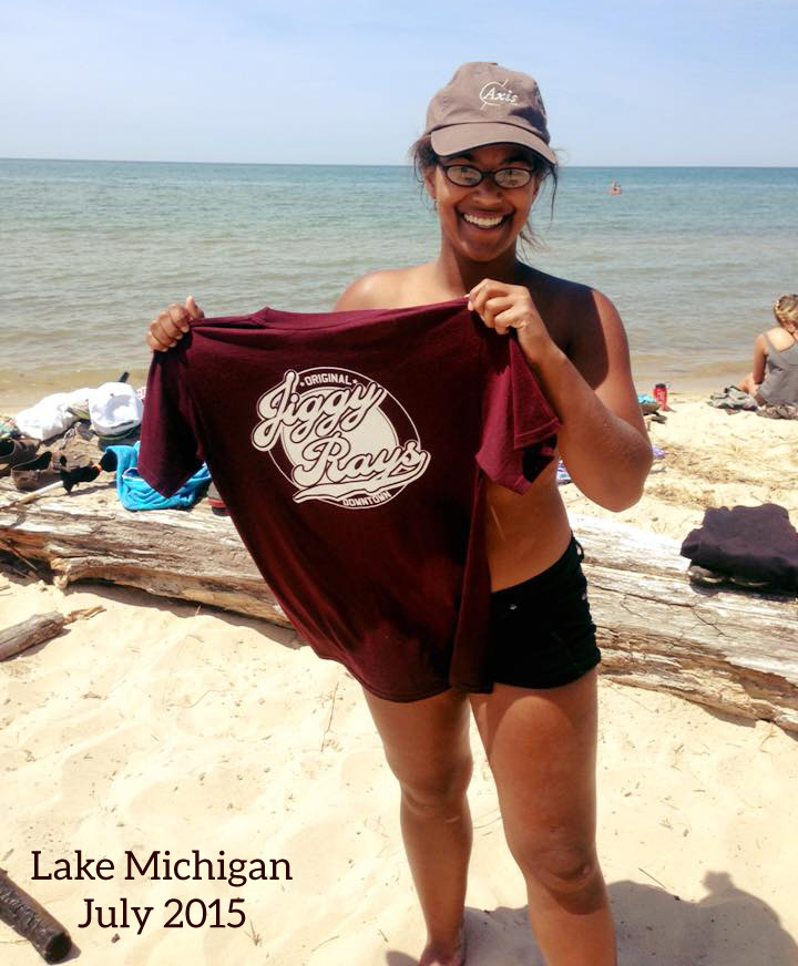 Jiggy Ray's T-Shirt at Lake Michigan