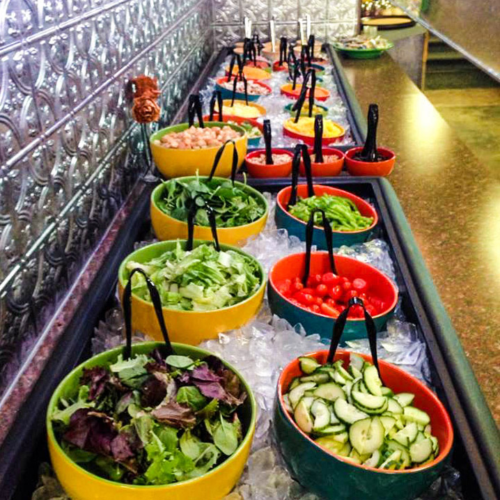 Fresh 12 foot salad bar